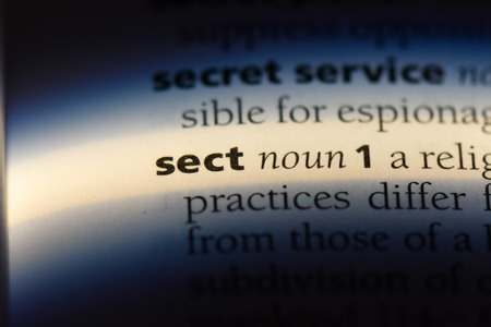 sect word in a dictionary. sect concept. Stok Fotoğraf