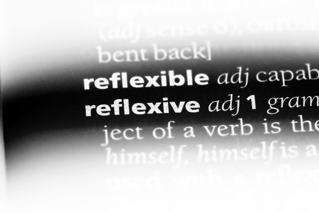 reflexive word in a dictionary. reflexive concept. Banque d'images