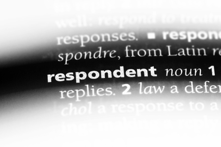respondent word in a dictionary. respondent concept. Banque d'images