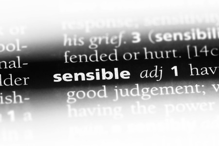 sensible word in a dictionary. sensible concept. Banque d'images - 107462791