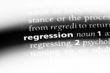 regression word in a dictionary. regression concept. Stock Photo