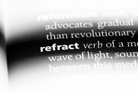 refract word in a dictionary. refract concept.