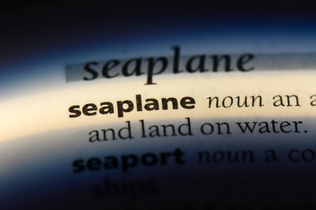 seaplane word in a dictionary. seaplane concept.