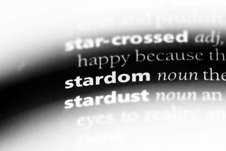 stardom word in a dictionary. stardom concept. 版權商用圖片