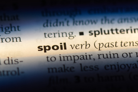 spoil word in a dictionary. spoil concept. 版權商用圖片
