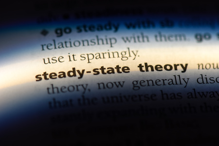 steady state theory word in a dictionary. steady state theory concept. Stock Photo
