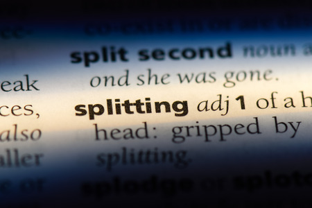 splitting word in a dictionary. splitting concept.