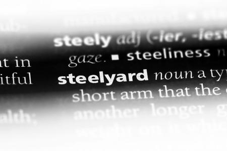 steelyard word in a dictionary. steelyard concept.