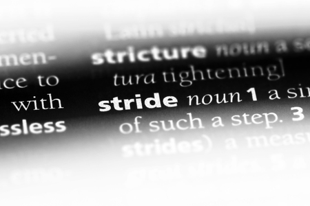 stride word in a dictionary. stride concept.