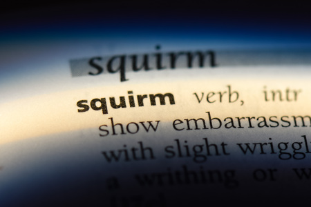 squirm word in a dictionary. squirm concept. Stock Photo