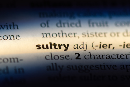sultry word in a dictionary. sultry concept.
