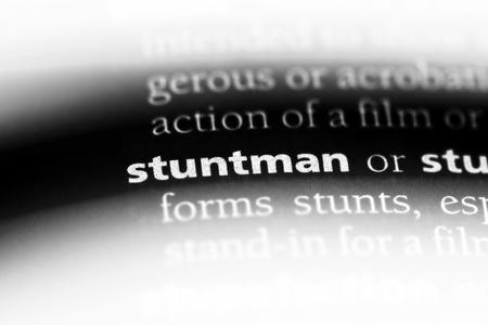 stuntman word in a dictionary. stuntman concept. Stock Photo