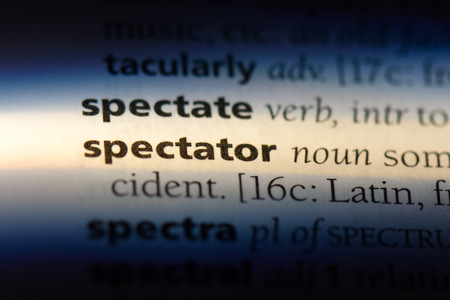 spectator word in a dictionary. spectator concept.