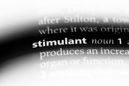 stimulant word in a dictionary. stimulant concept.