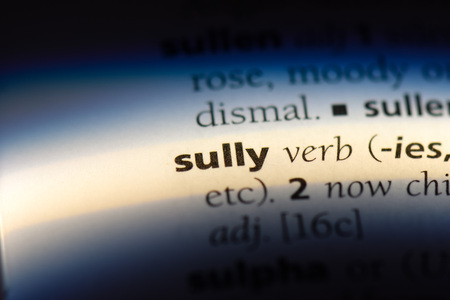 sully word in a dictionary. sully concept. Stok Fotoğraf