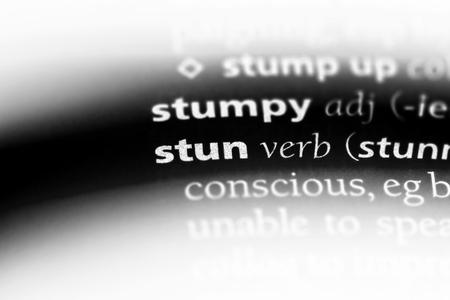 stun word in a dictionary. stun concept.