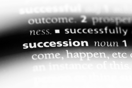 succession word in a dictionary. succession concept.