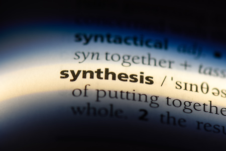 synthesis word in a dictionary. synthesis concept.