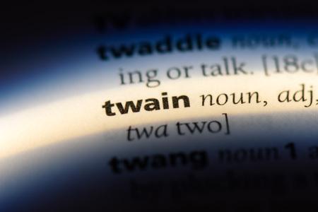twain word in a dictionary. twain concept.