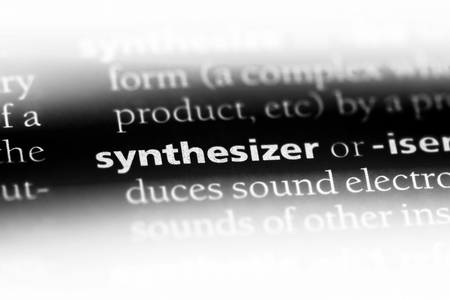 synthesizer word in a dictionary. synthesizer concept.