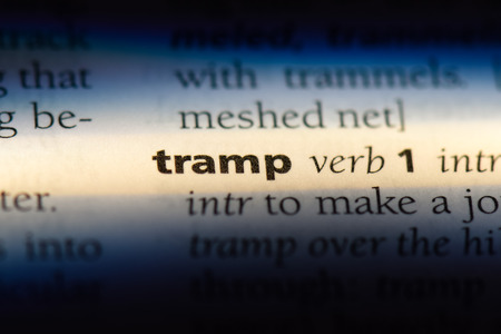 tramp word in a dictionary. tramp concept.