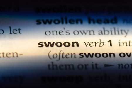 swoon word in a dictionary. swoon concept.