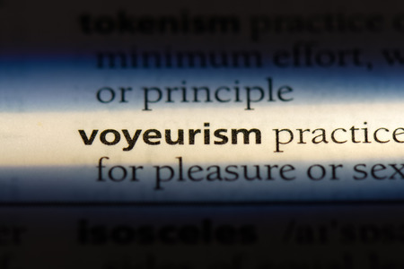 voyeurism word in a dictionary. voyeurism concept. 写真素材 - 107171053