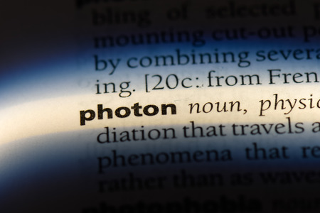 photon word in a dictionary. photon concept. Banco de Imagens - 107111103