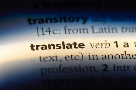 translate word in a dictionary. translate concept.