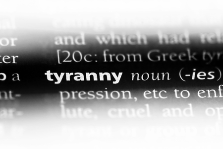 tyranny word in a dictionary. tyranny concept. Stock Photo