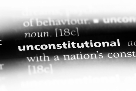 unconstitutional word in a dictionary. unconstitutional concept. 版權商用圖片