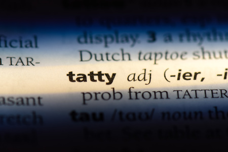 tatty word in a dictionary. tatty concept.