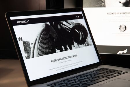 Milan, Italy - August 15, 2018: NVP Mexico NGO website homepage. NVP Mexico logo visible.