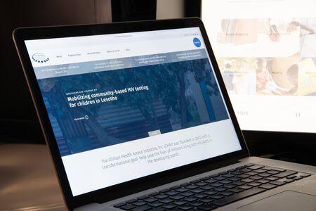 Milan, Italy - August 15, 2018: Clinton Health Access Initiative NGO website homepage. Clinton Health Access Initiative logo visible.