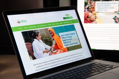 Milan, Italy - August 15, 2018: ASA NGO website homepage. ASA logo visible.