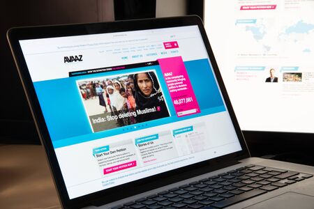Milan, Italy - August 15, 2018: avaaz NGO website homepage. avaaz logo visible.
