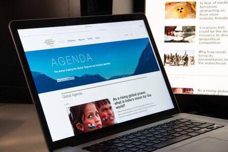 Milan, Italy - August 15, 2018: wef NGO website homepage. wef logo visible.