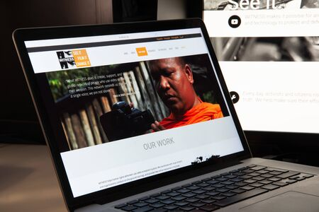 Milan, Italy - August 15, 2018: Witness NGO website homepage. Witness logo visible.