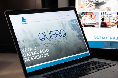 Milan, Italy - August 15, 2018: Viva Rio NGO website homepage. Viva Rio logo visible.