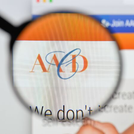 Milan, Italy - August 20, 2018: AACD website homepage. AACD logo visible.