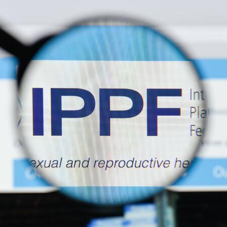Milan, Italy - August 20, 2018: International Planned Parenthood Federation website homepage. International Planned Parenthood Federation logo visible. Editorial