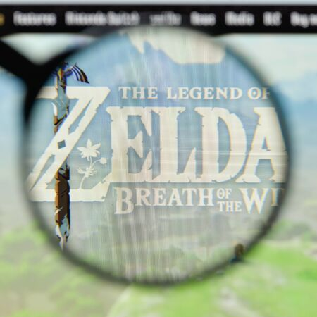Milan, Italy - August 20, 2018: The Legend Of Zelda: Ocarina Of Time website homepage. The Legend Of Zelda: Ocarina Of Time logo visible. Editorial