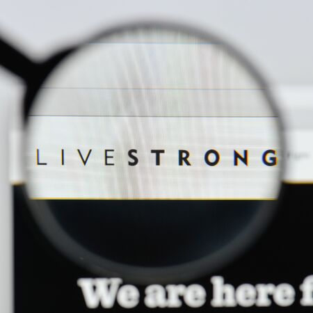 Milan, Italy - August 20, 2018: livestrong website homepage. livestrong logo visible. Editorial