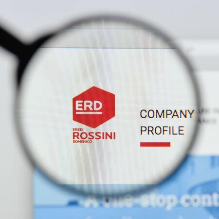 Milan, Italy - August 20, 2018: erdbär (Freche Freunde) website homepage. erdbär (Freche Freunde) logo visible.