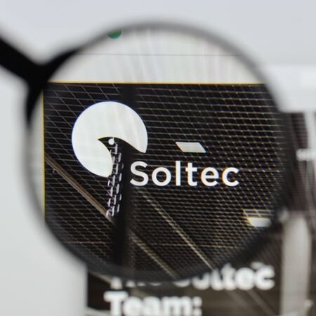 Milan, Italy - August 20, 2018: Soltec website homepage. Soltec logo visible.