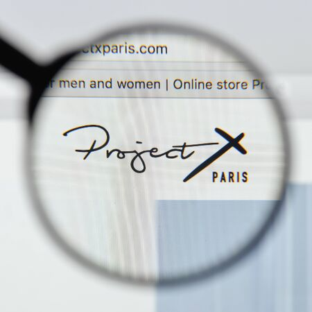 Milan, Italy - August 20, 2018: Project X Paris website homepage. Project X Paris logo visible. Editorial