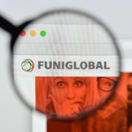 Milan, Italy - August 20, 2018: Funiglobal website homepage. Funiglobal logo visible.