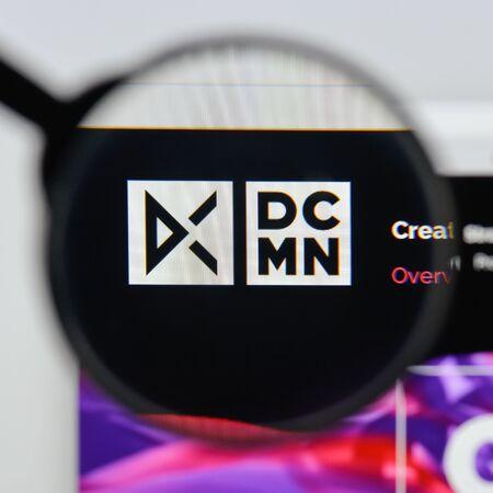 Milan, Italy - August 20, 2018: DCMN website homepage. DCMN logo visible. Editorial
