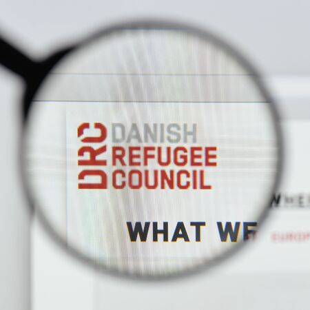 Milan, Italy - August 20, 2018: Danish Refugee Council website homepage. Danish Refugee Council logo visible.
