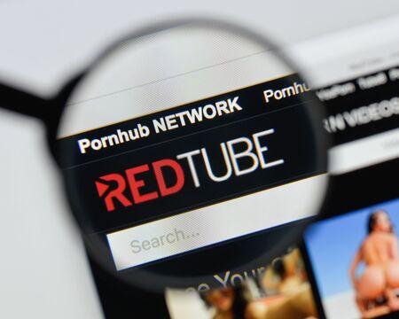 Milan, Italy - August 20, 2018: redtube website homepage. redtube logo visible. Editorial